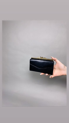 Black And Gold Clutch/ Wallet