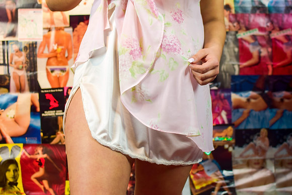 Mini White Slip Skirt