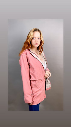 Baby Pink Soft London Fog Utility Jacket