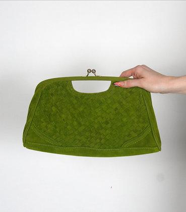 Green Woven Clutch