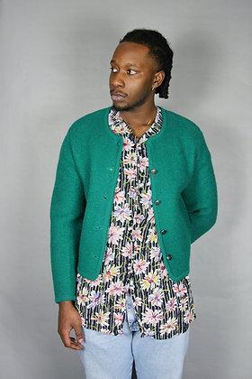 Wool Green Sweater/ Blazer