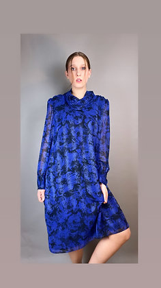 Graphic Cowl Neck Dress