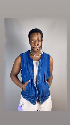 Denim Stretch Vest