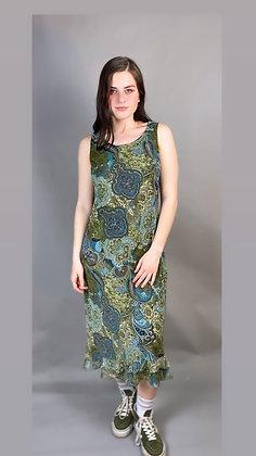 70s Green Paisley