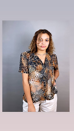 Sheer Jungle Girl Button Up
