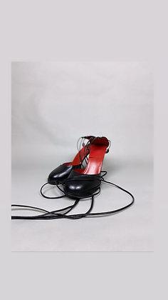 Jean Paul Gaultier Strappy Heel - Black