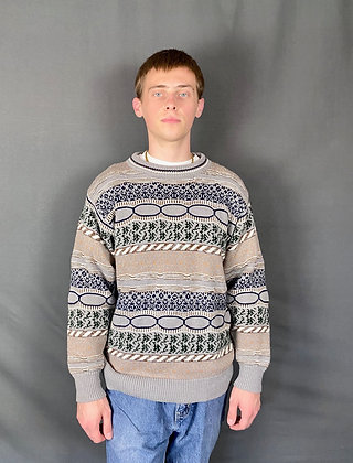 Escape Horizontal Pattern Sweater
