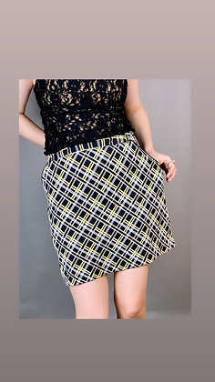 Black and Yellow Plaid Skort