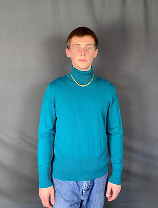 Comfy Teal Turtleneck