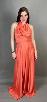 80s Coral Prom Dress