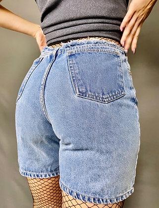 Low Rise Raw Hem Shorts