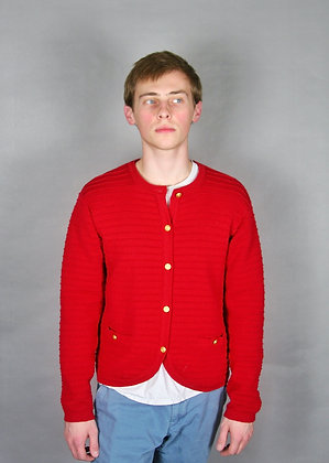90s Ribbed Red Sweater