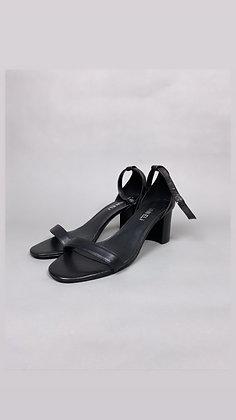 Black Little Strap Heel