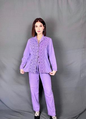 Sewing Kit Purple Denim Set