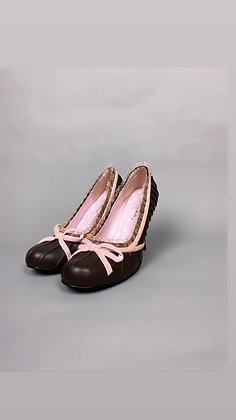 Pink And Brown Baby Girl Heel