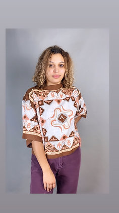 Brown Bandana Top