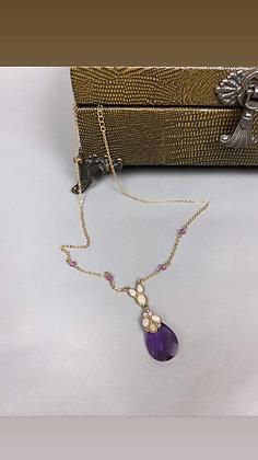 Purple Tear Necklace