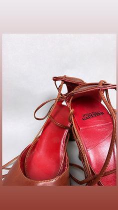 Jean Paul Gaultier Strappy Heel - Brown