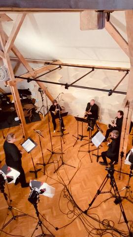 Winterreise mit dem Raschèr Saxophone Quartet und Tenor Bernhard Hirtreiter in den ERNA Studios