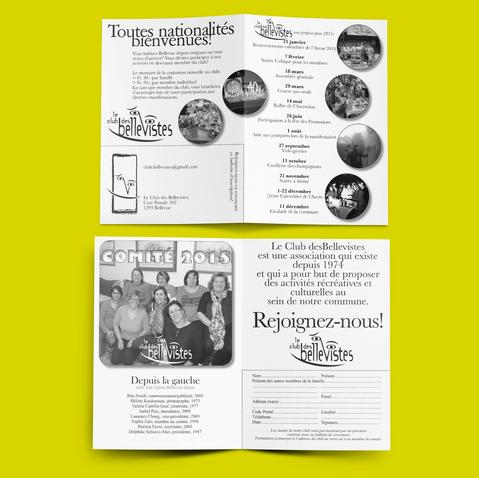 Le Club des Bellevistes - flyer comité