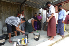 Bio-sand filter manufacturing unit in Sittwe