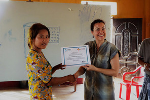 Certificate after WASH training