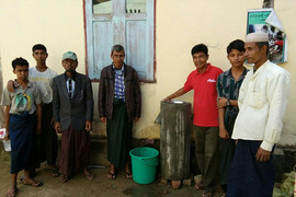 Installation of bio-sand filters in IDP camp in Sittwe
