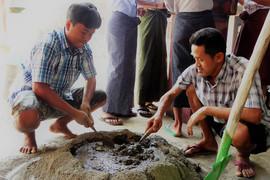 Bio-sand filter manufacturing