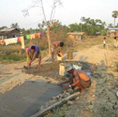 Constructing a walkway