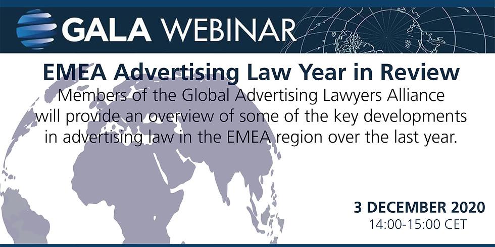 GALA Webinar: EMEA Advertising Law Year in Review