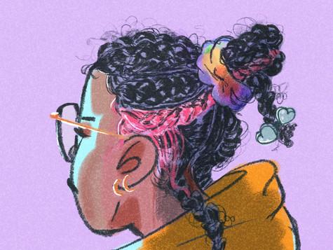 Headback portrait
