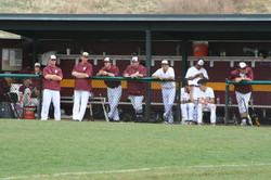 Dugout during game