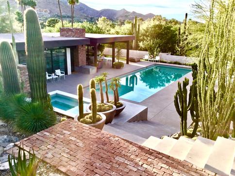 Modern design geometric swimming pool wi