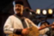 Hamid El Kasri in Zuderstrandtheater. Onderdeel va Gnawa Festival Den Haag