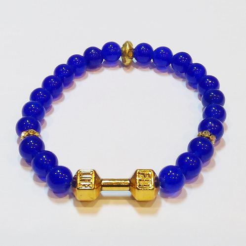 Blue Agate Dumbbell Bracelet