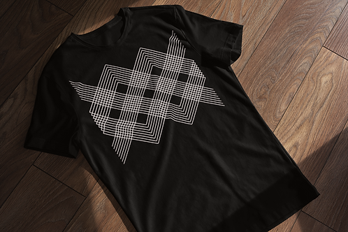 Entangled Lines Abstract T-shirt
