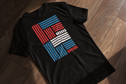 Bars and Strips Abstract T-shirt