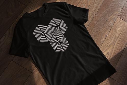 Geometric Fusion Abstract T-Shirt