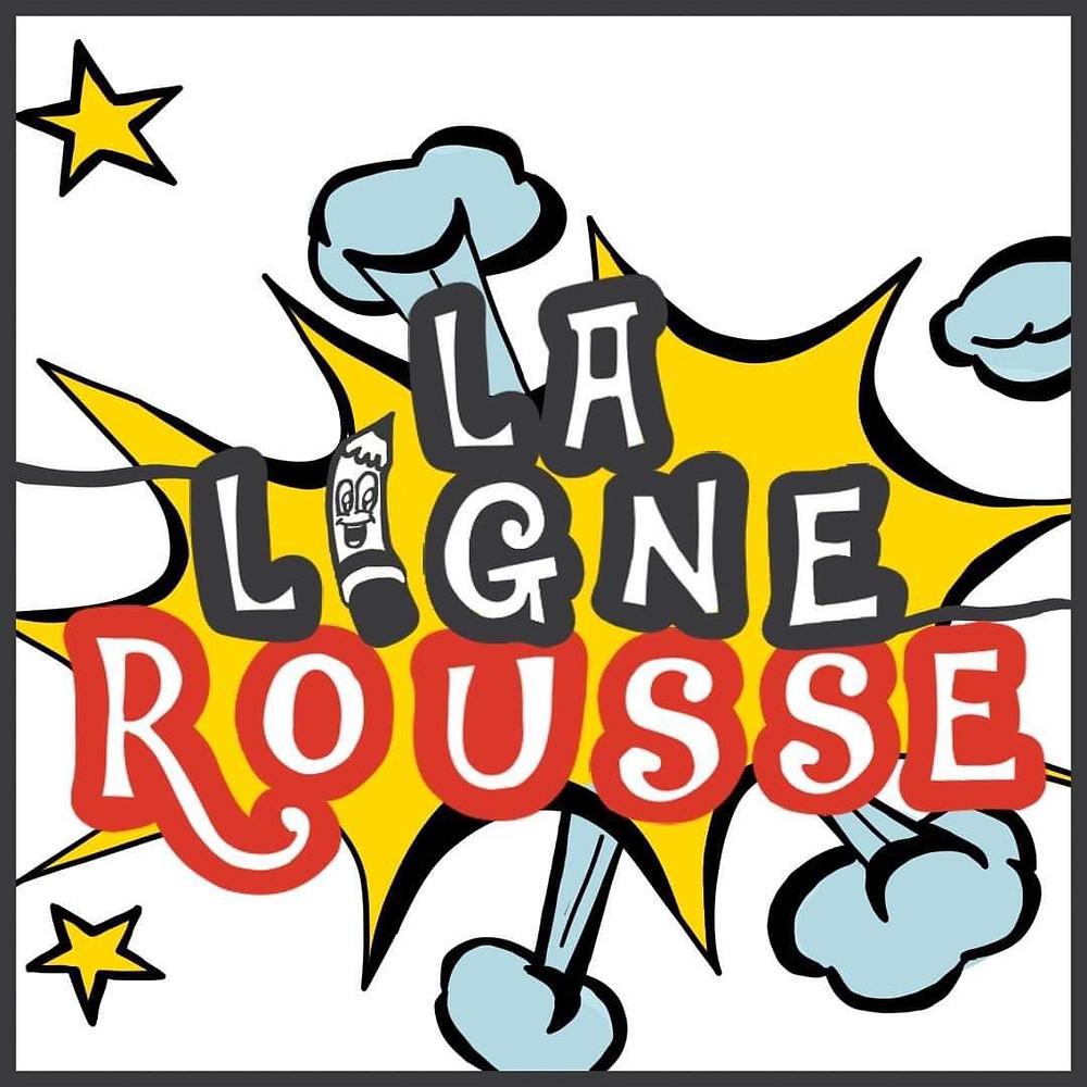 Logo La Ligne Rousse version manga adapté par Picprodraw Eloïse Picard