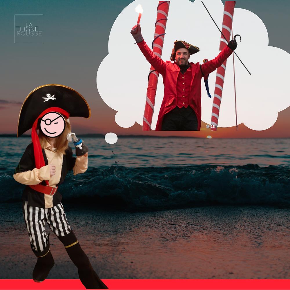 Enfant déguisé en pirate comme Damien Seguin au Vendée Globe