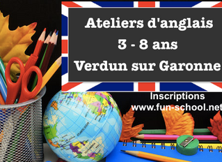 Ateliers d'anglais (3-8 ans) Verdun sur Garonne