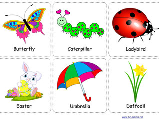 Spring printable flashcards