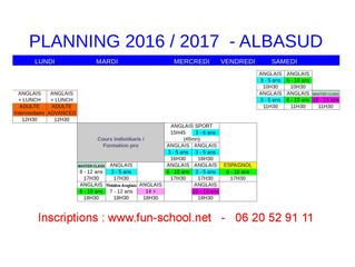 Planning 2016 - 2017