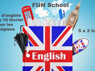 Stage d'anglais pour les collégiens pendant les vacances de février.