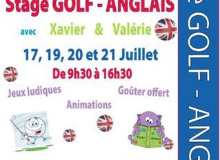 Stages d'anglais + Golf - Juillet/Août