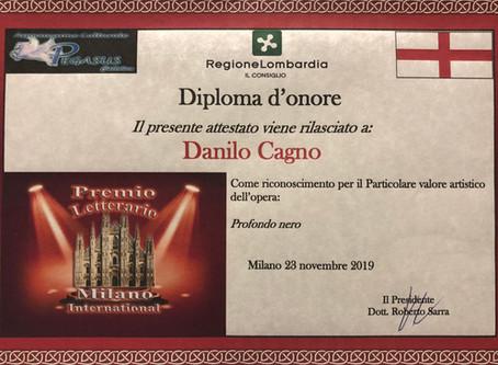 """Diploma d'onore per """"Profondo Nero"""""""