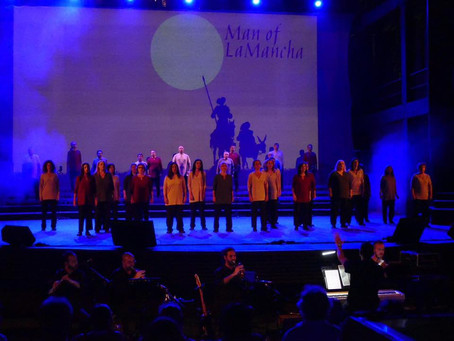 "Aris orchestrates and conducts a successful run of ""The Impossible Dream with Diastasis"""