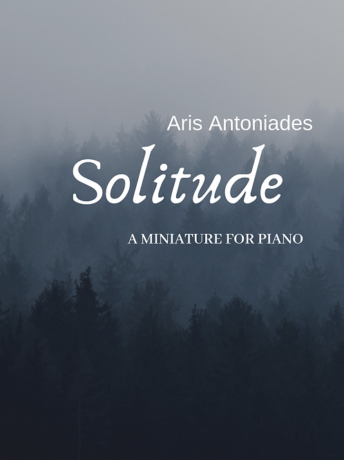 Solitude - A Miniature For Piano