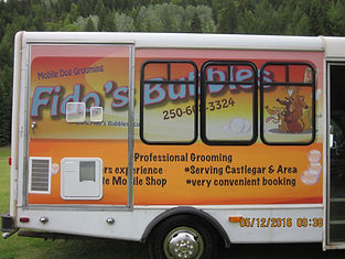 Fido's Bubbles mobile dog grooming van