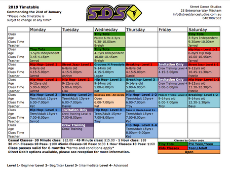 New Year, New Timetable